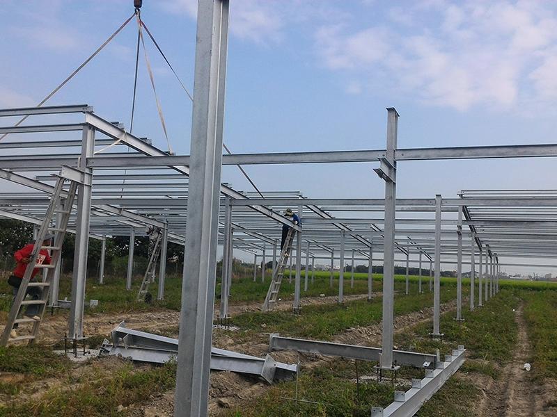 雲林農場鋼構架設